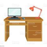 Ein Schreibtisch Mit Einem Computer Und Einer Schreibtischlampe Mobel Und Interieur Einzelnes Symbol Im Cartoon Stil Isometrische Vektor Symbol Lager Abbildung Web Stock Vektor Art Und Mehr Bilder Von Arbeiten Istock