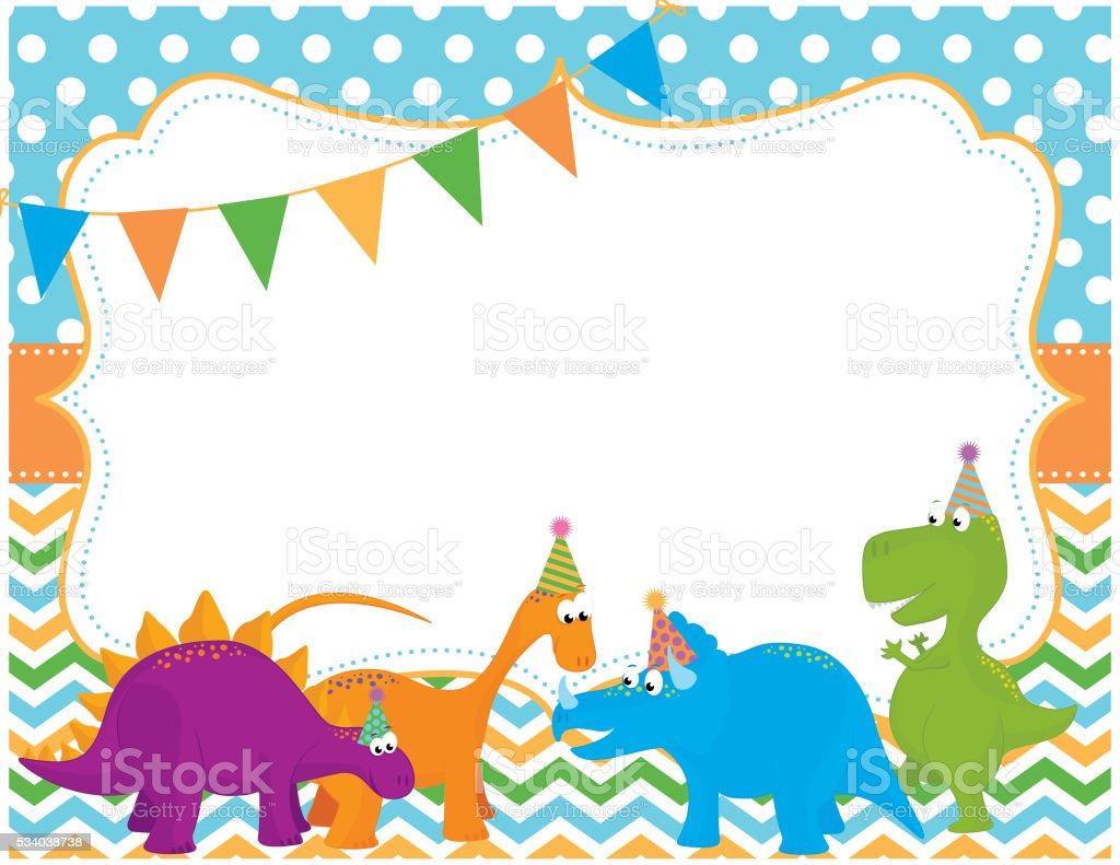 https www istockphoto com vector dinosaur party invitation card gm534038738 94682321