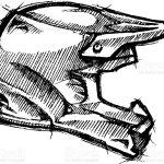 Dirt Bike Motorcycle Helmet Sketch Stock Illustration Download Image Now Istock