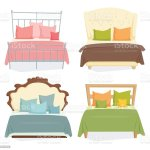 Double Bed Set Stock Illustration Download Image Now Istock