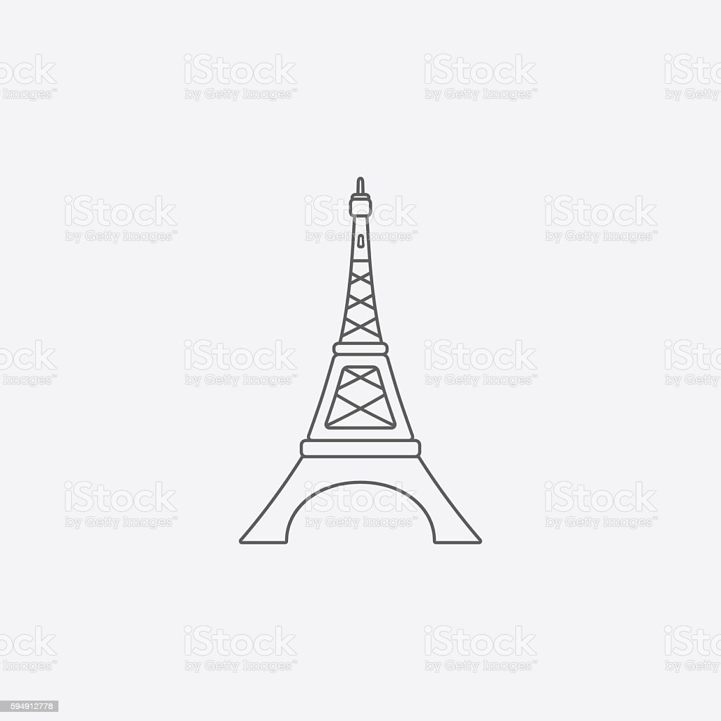 Icon stock vector art more images of eiffel tower line icon vector id594912778 eiffel tower line icon gm594912778 101976361 eiffel tower icon in sketch