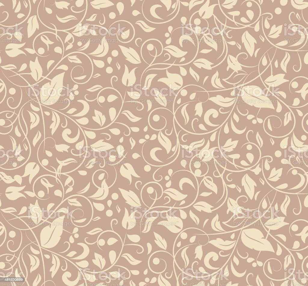 Elegant Stylish Abstract Floral Wallpaper Stock Illustration Download Image Now Istock