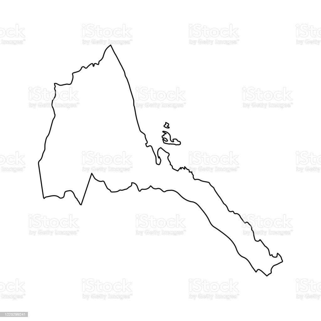 Eritrea Map Line Outline Country Africa Map Illustration Vector African Isolated On White Background Stock Illustration Download Image Now Istock