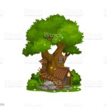 Fairy House Of Dwarf Gnome Elf Home Tree Cartoon Stock Illustration Download Image Now Istock