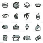 Fast Food Restaurant Icons Freehand 2 Color Stock Illustration Download Image Now Istock