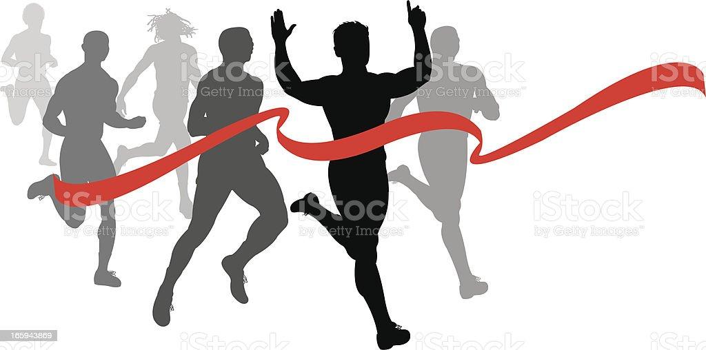 Marathon Finish Line Drawing