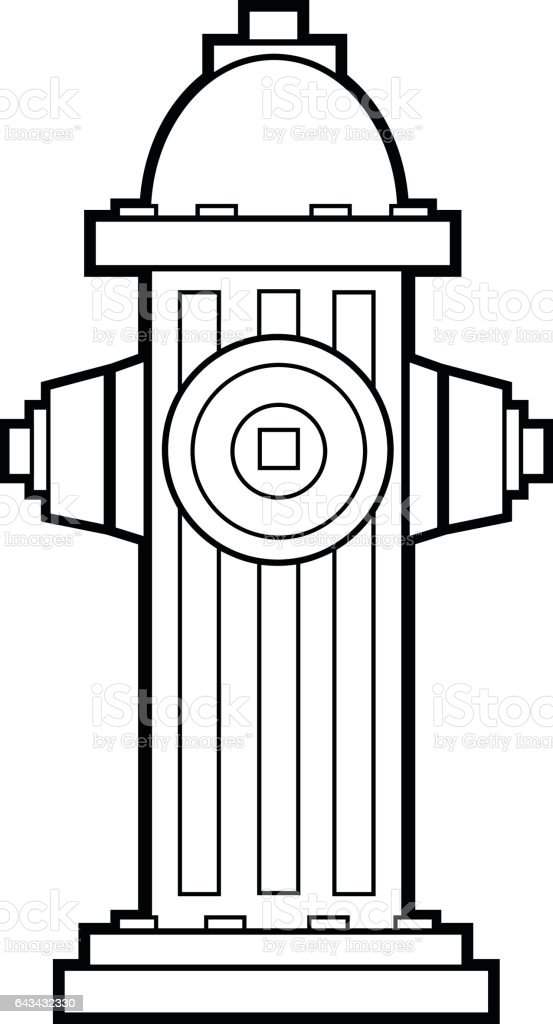 fire hydrant coloring page - Fire Hydrant Coloring Page