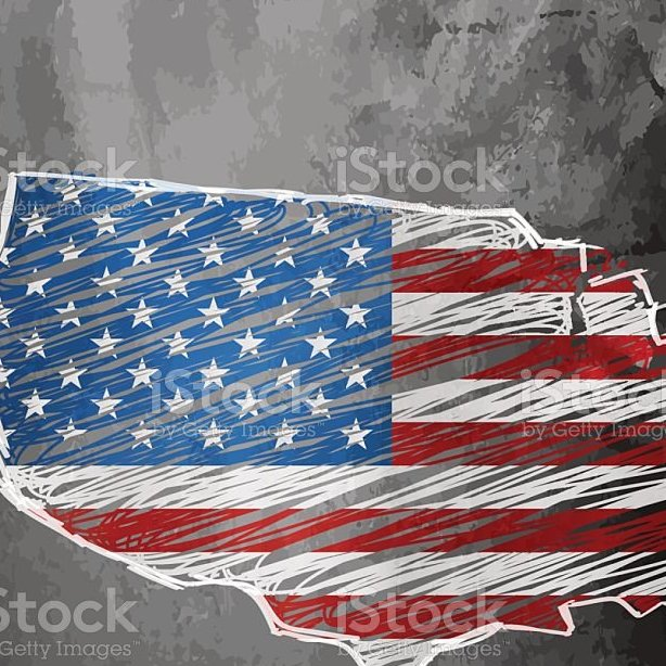 HD Decor Images » Usa Flag Map On Dark Chalkboard Background Stock Vector Art   More     USA flag map on dark chalkboard background royalty free usa flag map on  dark chalkboard