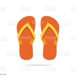 07214ce328e9f7 Flip Flops Vector Isolated Stock Vector Art   More Images Of Beach