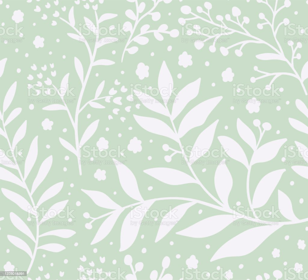 Floral Vector Seamless Pattern Delicate Botanical Wallpaper Repeatable Background With Leaves Stock Illustration Download Image Now Istock
