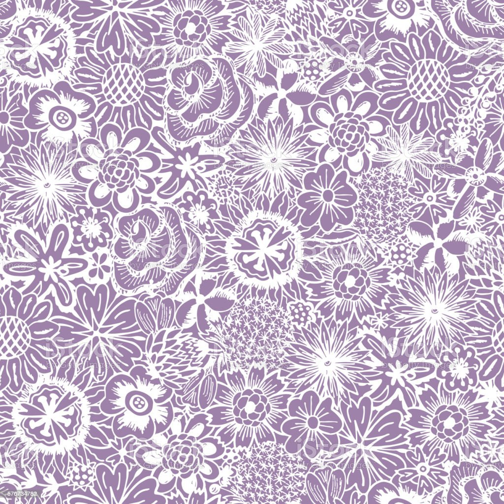 Flowers Seamless Pattern With Flowers Vintage Floral Wallpaper Stock Illustration Download Image Now Istock