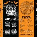 Halloween Menu Restaurant Cafe Menu Template Design Food Flyer Stock Illustration Download Image Now Istock