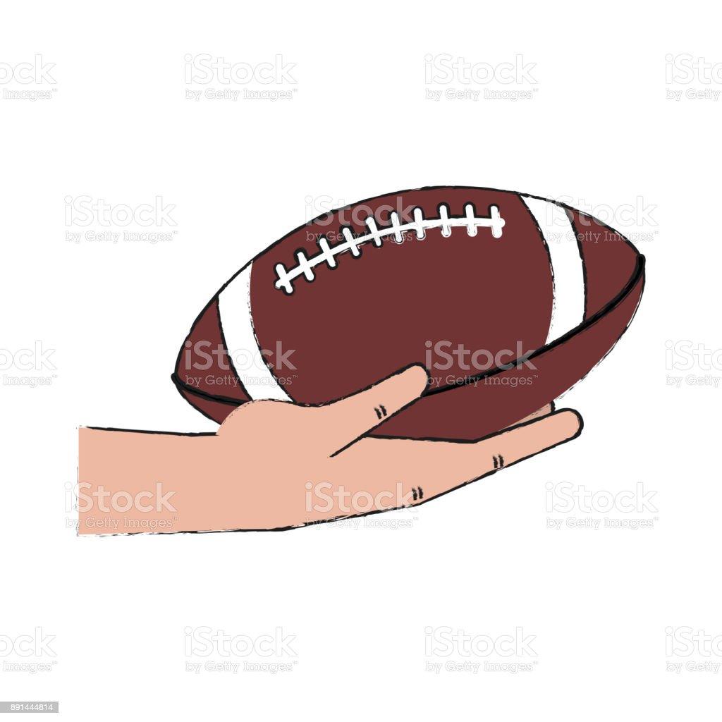 https www istockphoto com de vektor american football handball holding gm891444814 246867072