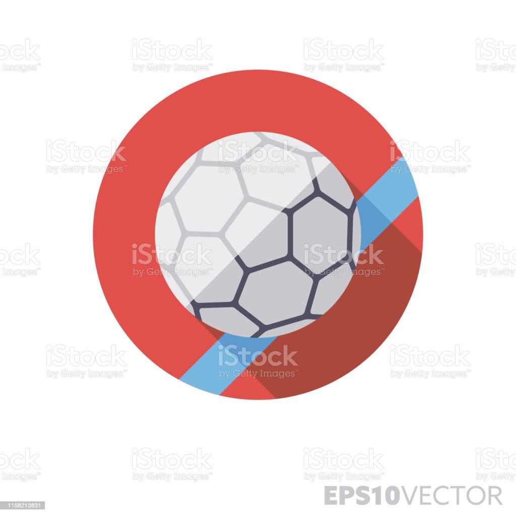 https www istockphoto com de vektor handball ball auf feld flaches design lange schatten farbe vektor symbol gm1158213831 316302555