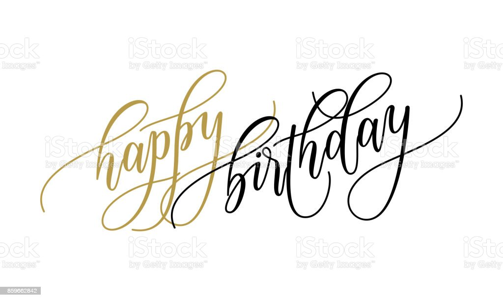 417 Happy Birthday In Cursive Writing Pictures Illustrations Clip Art Istock