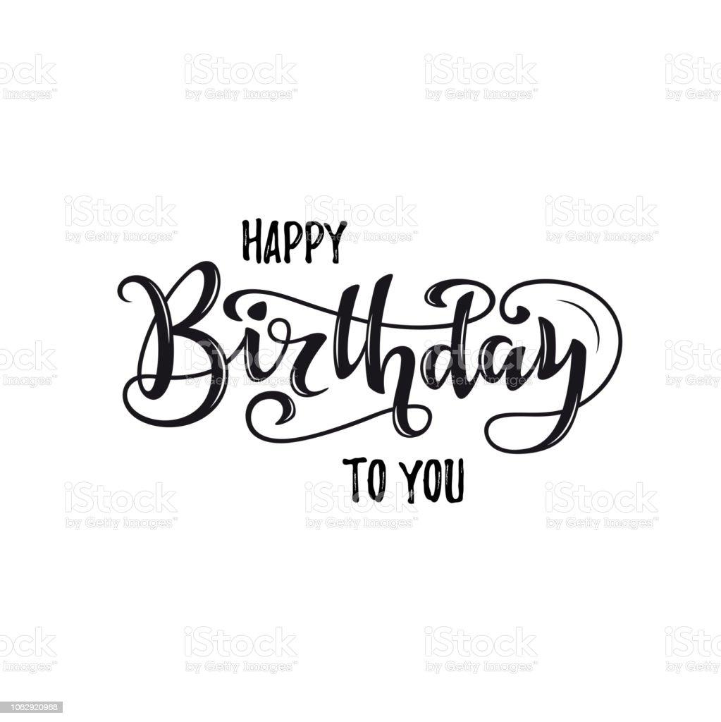 8 059 Happy Birthday In Cursive Writing Illustrations Clip Art Istock