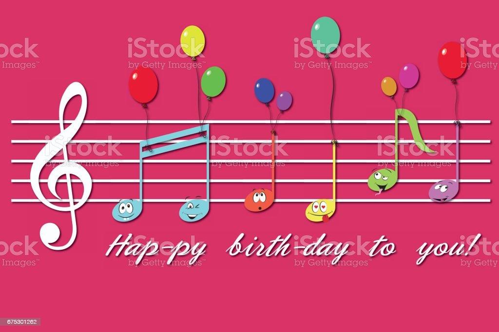 814 Happy Birthday Music Notes Illustrations Clip Art Istock