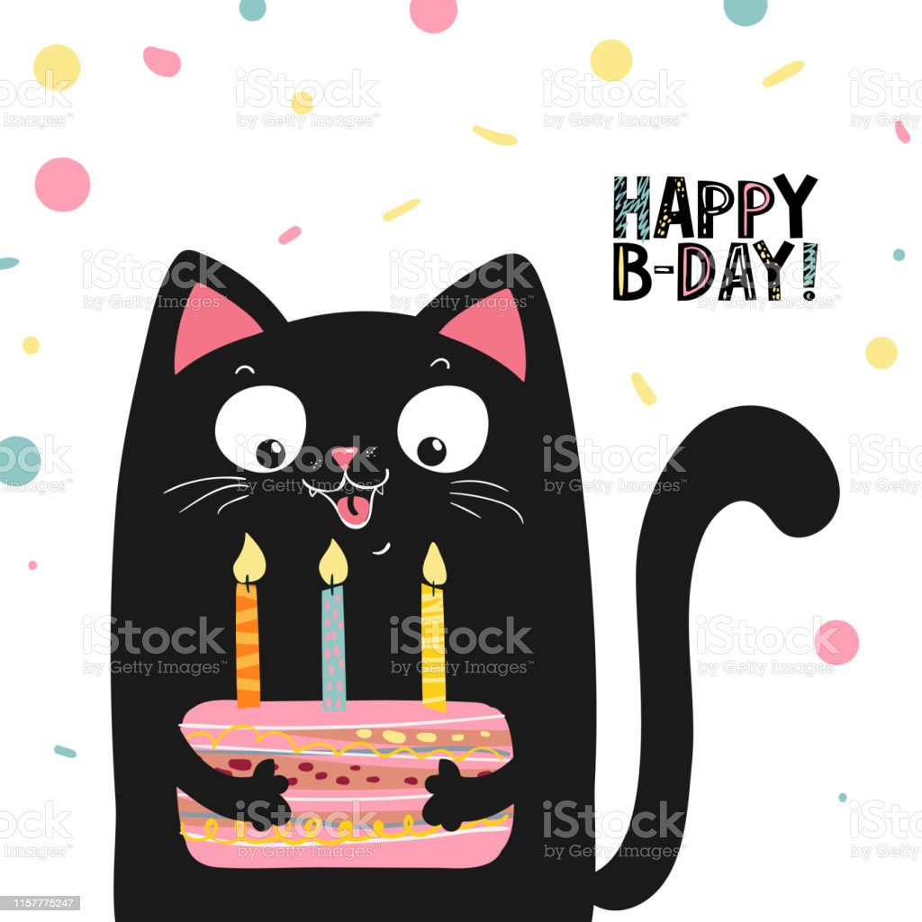 6 343 Happy Birthday Cat Stock Photos Pictures Royalty Free Images Istock