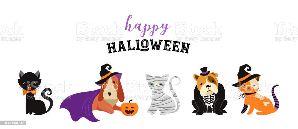 Halloween Party Clip Art Trick