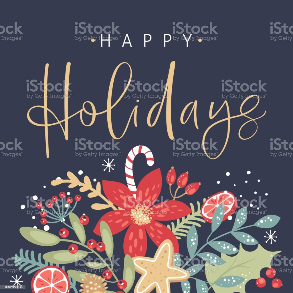 Royalty Free Happy Holidays Clip Art Vector Images