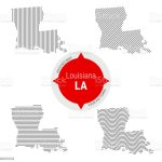 Hatched Pattern Vector Map Of Louisiana Stylized Simple Silhouette Of Louisiana Four Different Patterns Stock Illustration Download Image Now Istock