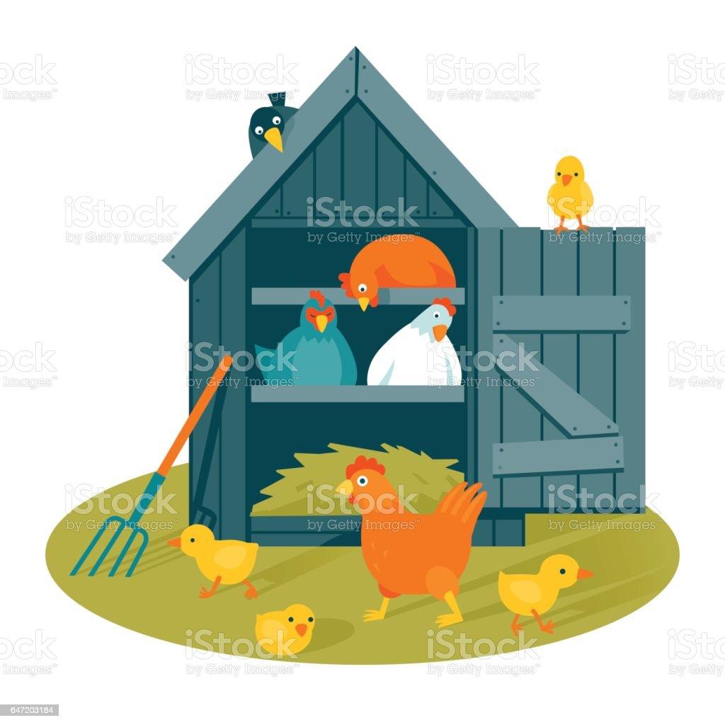 Hen Coop Clipart