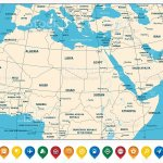 Highly Detailed Map Of Northern Africa And The Middle East Stock Illustration Download Image Now Istock