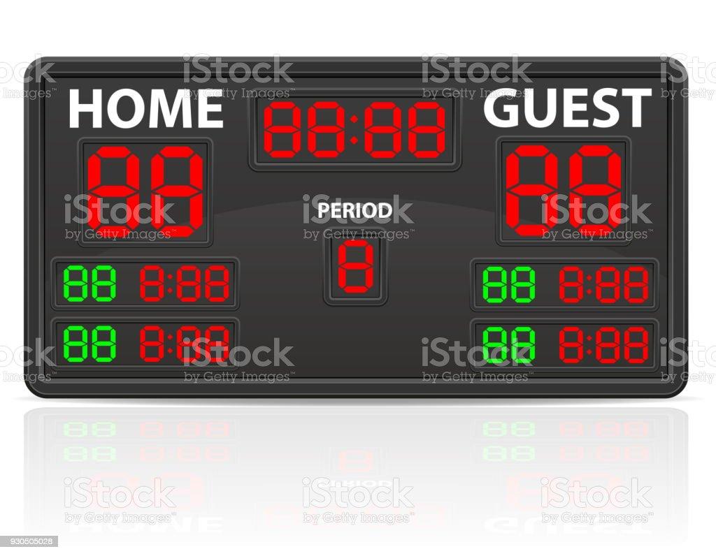 Hockey Art Clip Scoreboard