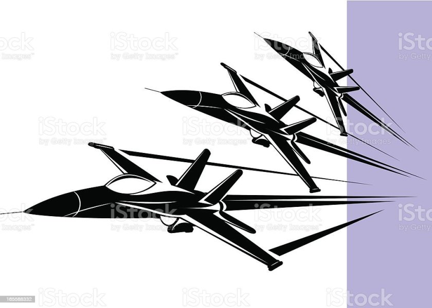 Royalty Free Supersonic Airplane Clip Art  Vector Images     F 18 hornet vector art illustration