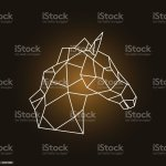 Horse Head Side View Geometric Style Vector Illustration Stock Illustration Download Image Now Istock