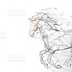 Horse Run Gallop From Lines Triangles And Particle Style Design Illustration Vector Stock Illustration Download Image Now Istock