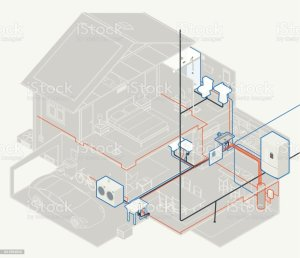 House Plumbing Diagram Stock Vector Art & More Images of
