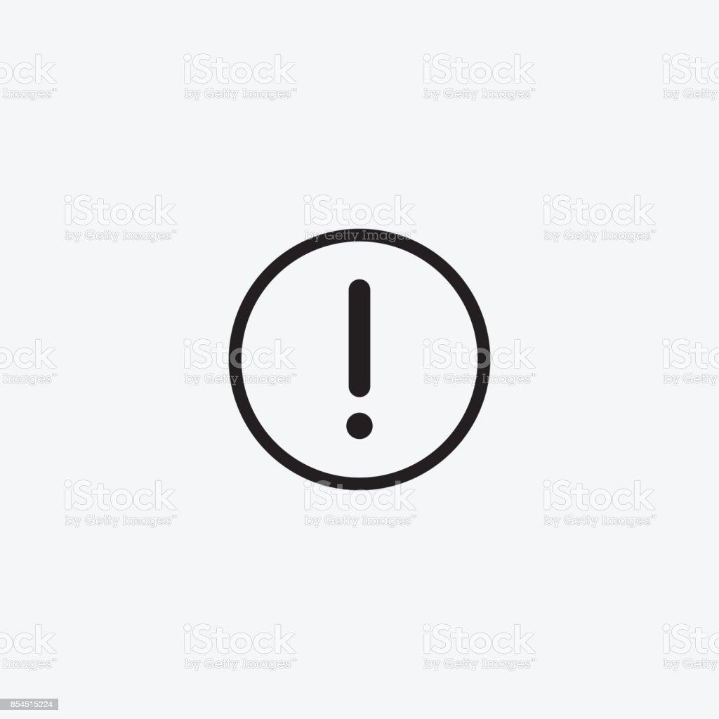 graphique dicone de dessin avec attention danger avertissement point dexclamation pictogramme noir et blanc pour la conception web plates illustrations vectorielles vecteurs libres de droits et plus d images vectorielles de art