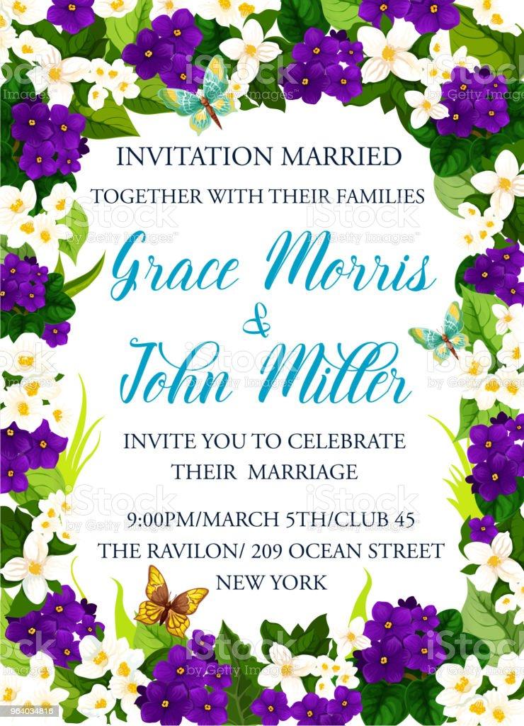 https www istockphoto com fr vectoriel carte dinvitation pour f c3 aate de mariage gm964034816 263214967