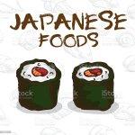 Vetores De Japan Food Sushi E Mais Imagens De Abacate Istock
