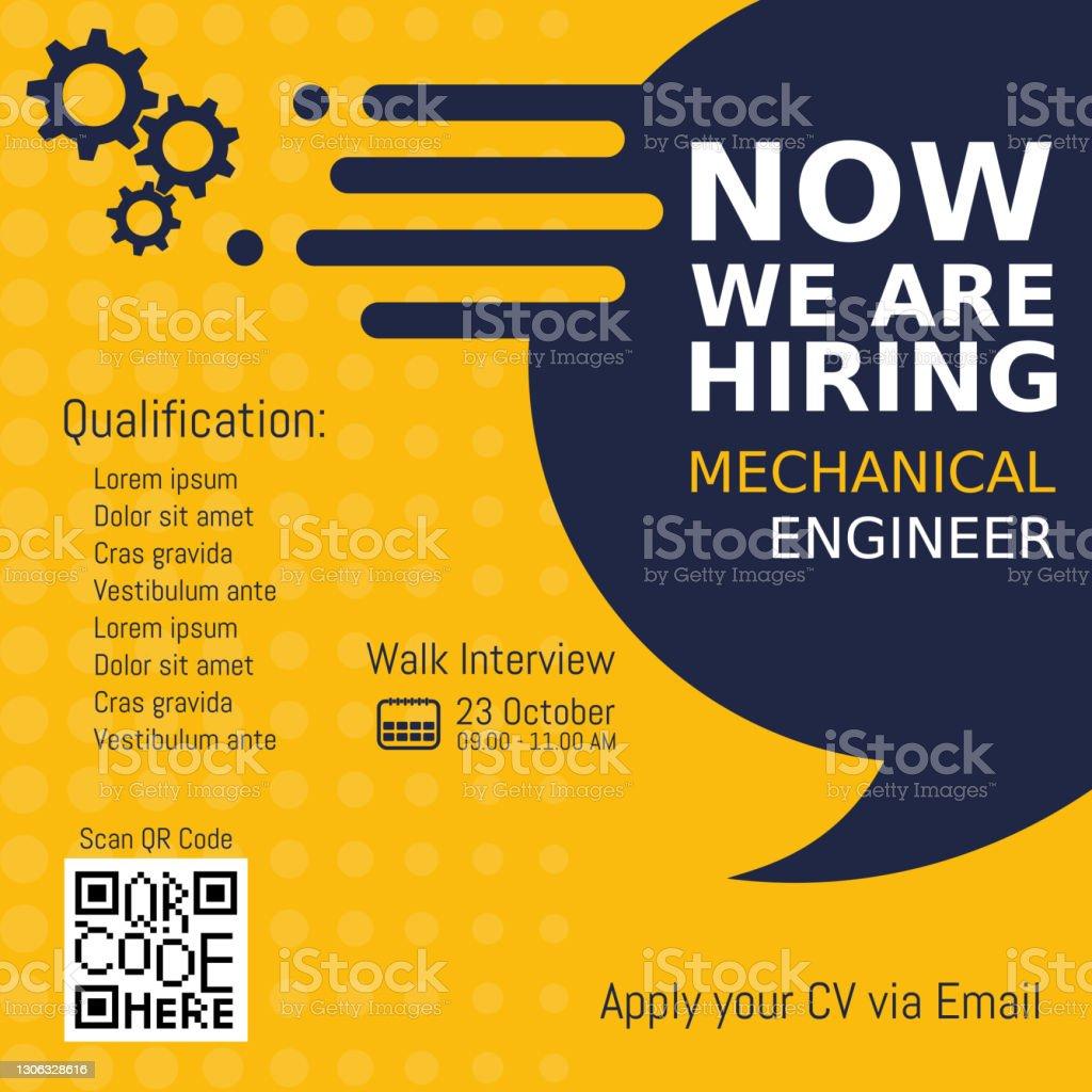 we re hiring poster 2162024 vector art at vecteezy