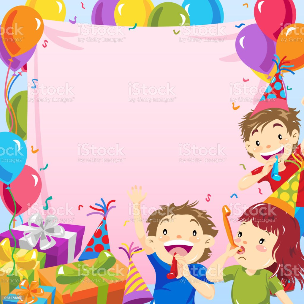 kids birthday party invitation stock illustration download image now istock