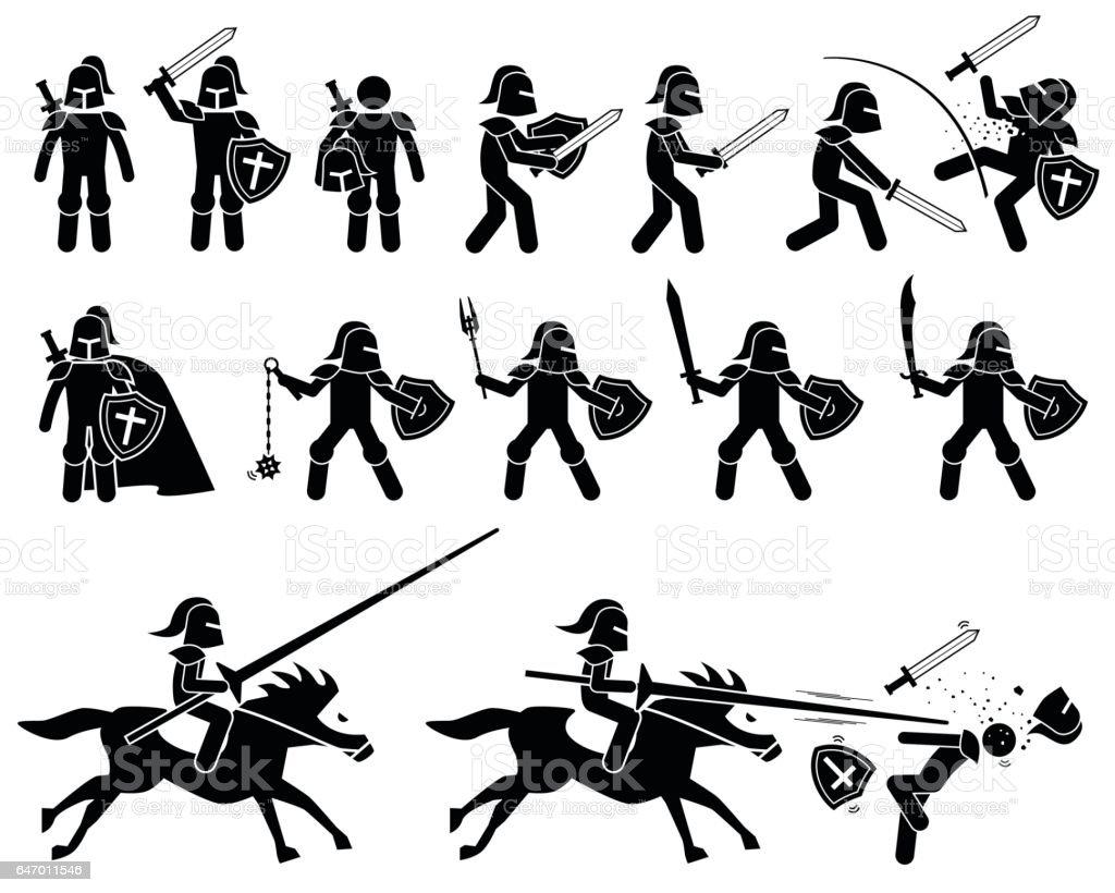 Royalty Free Swordsman Clip Art, Vector Images
