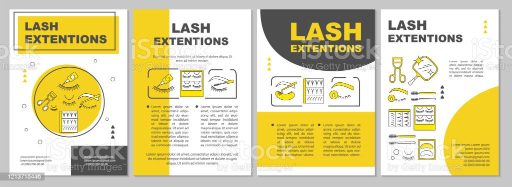 https www istockphoto com vector lash extension brochure template layout false eyelashes yellow flyer booklet gm1213715446 352855803