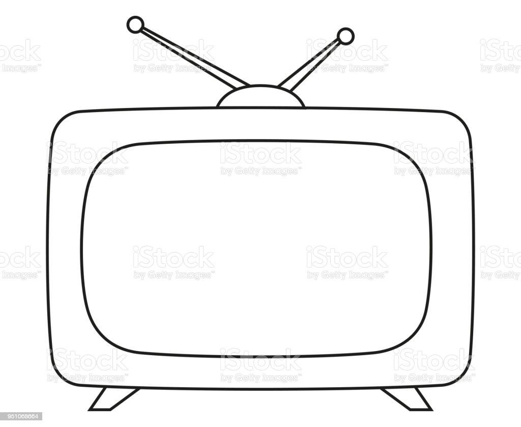 vintage noir et blanc art ligne tv vecteurs libres de droits et plus d images vectorielles de abstrait istock