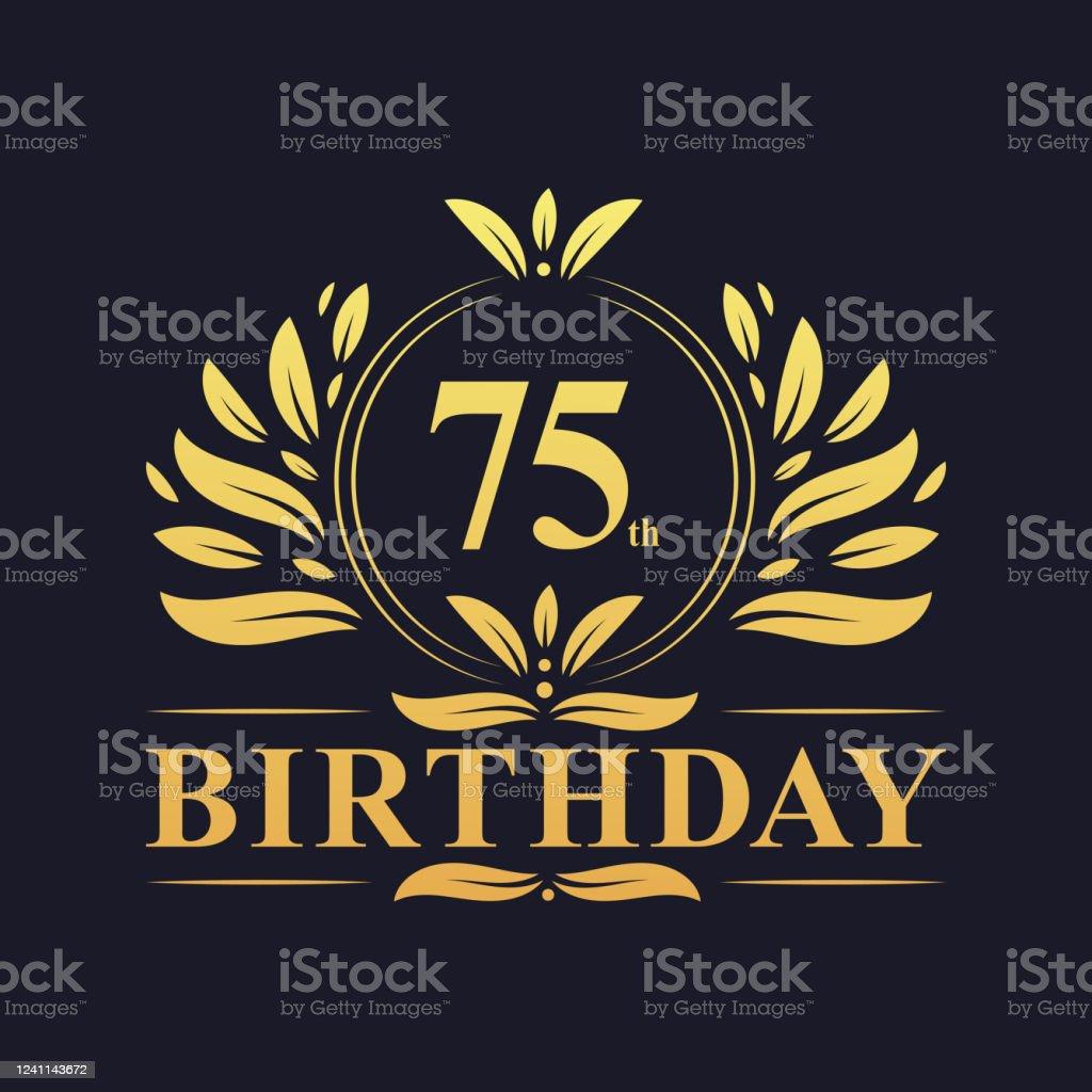 46 75th birthday invitation illustrations clip art istock