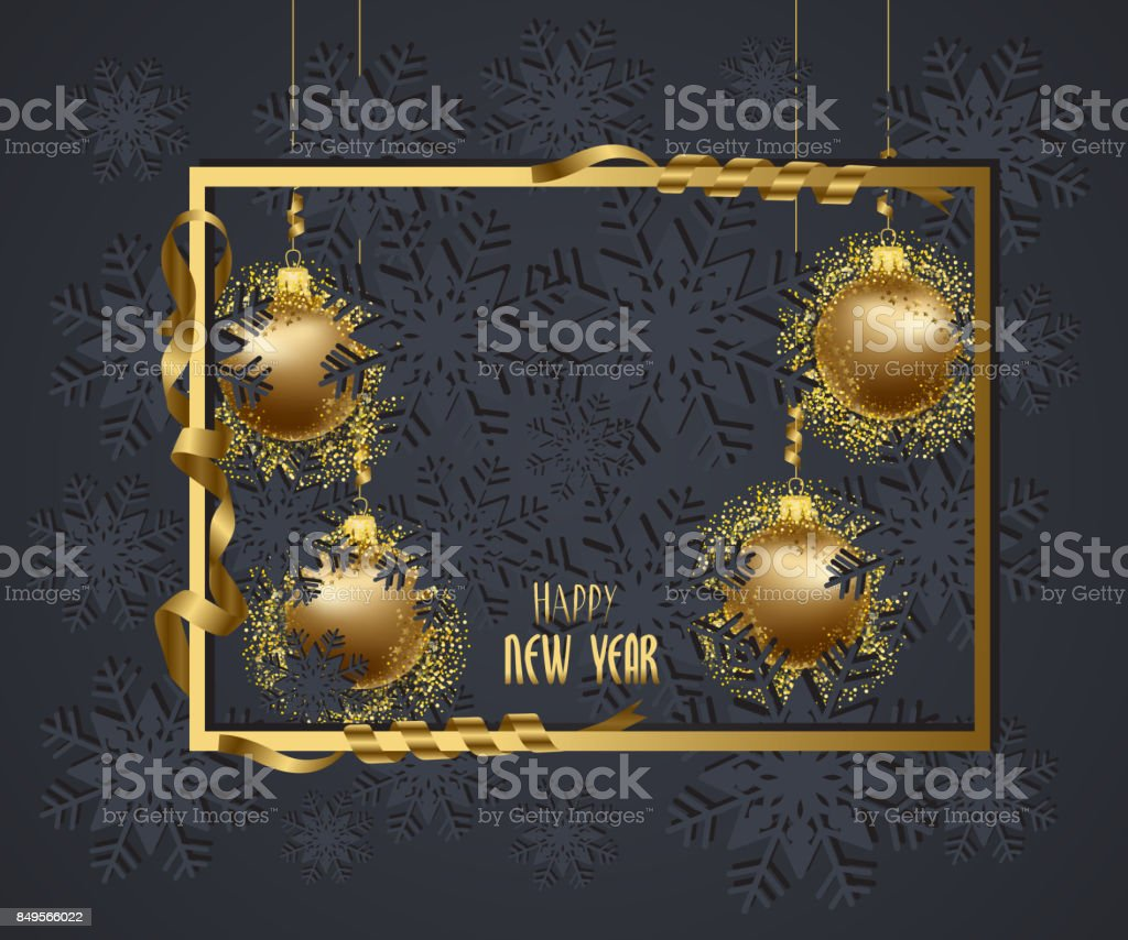 https www istockphoto com vector luxury elegant merry christmas and happy new year 2018 poster frame and gold gm849566022 139546941
