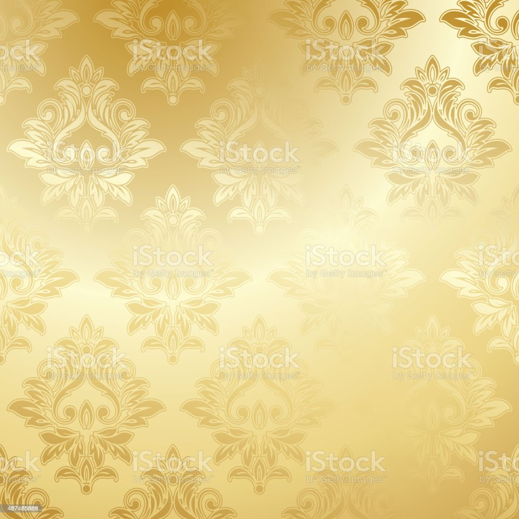 Luxury Golden Floral Wallpaper Stock Illustration Download Image Now Istock