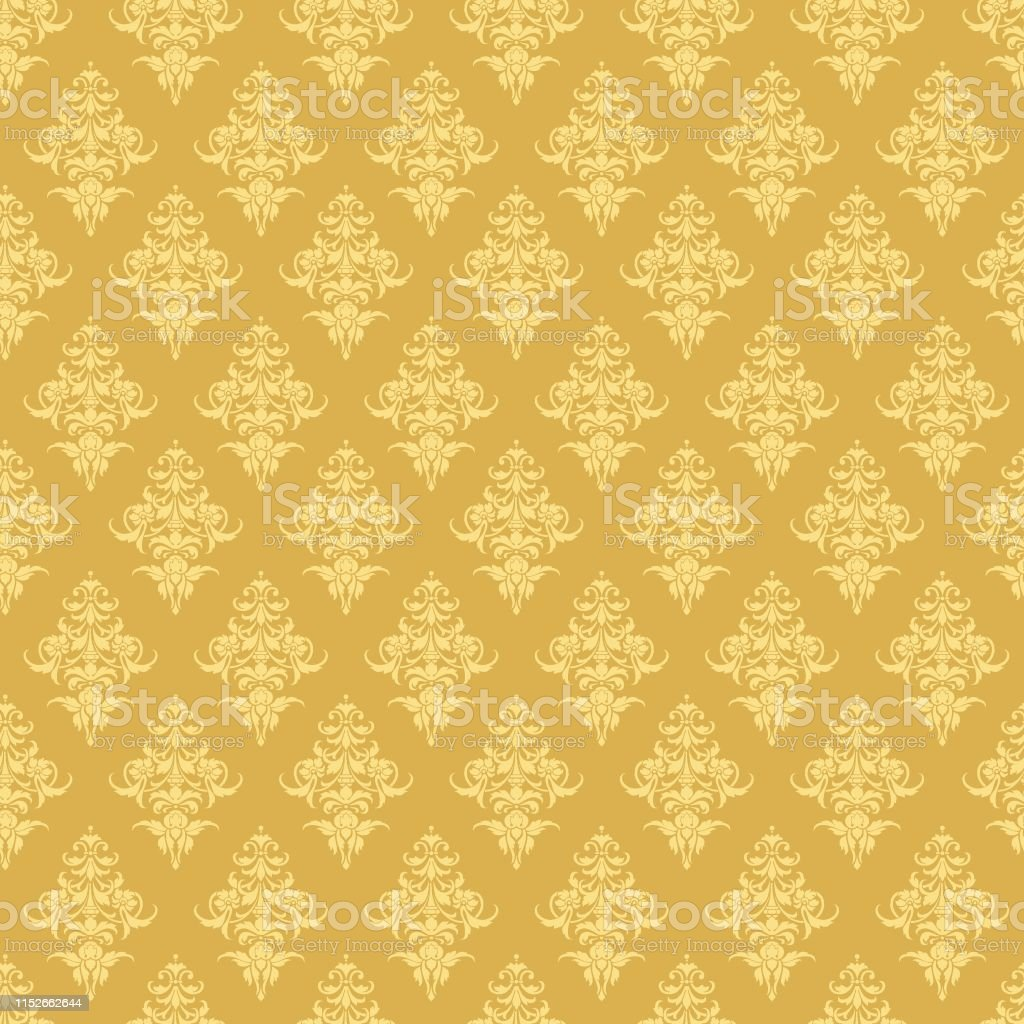 Luxury Seamless Golden Floral Wallpaper Vector Pattern For Design Stock Illustration Download Image Now Istock