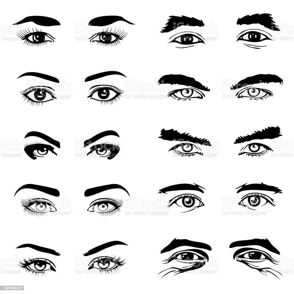 Vector Male Eyes Drawings