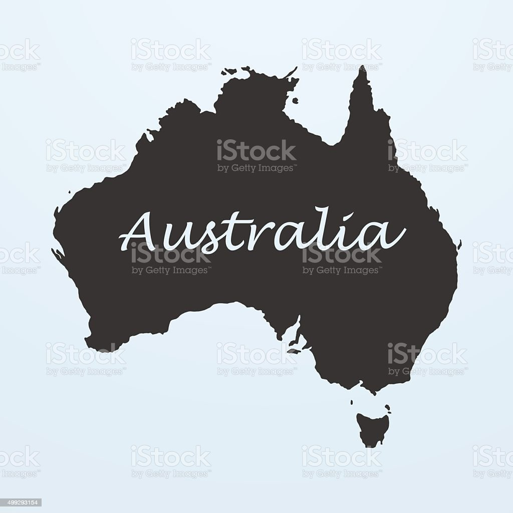 Map Of Australia Stock Vector Art   More Images of 2015 499293154     Map of Australia royalty free map of australia stock vector art  amp  more  images