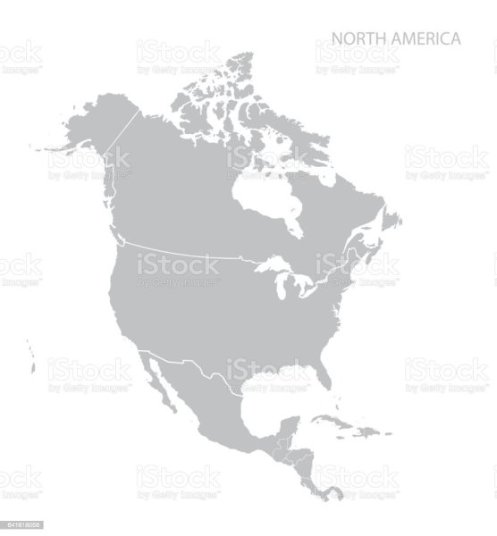 Royalty Free North America Clip Art  Vector Images   Illustrations     Map of North America vector art illustration