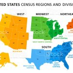 Map Of United States Split Into Census Regions And Divisions Stock Illustration Download Image Now Istock