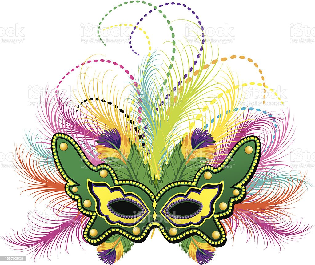 Mardi Gras Feather Mask Stock Vector Art Amp More Images Of