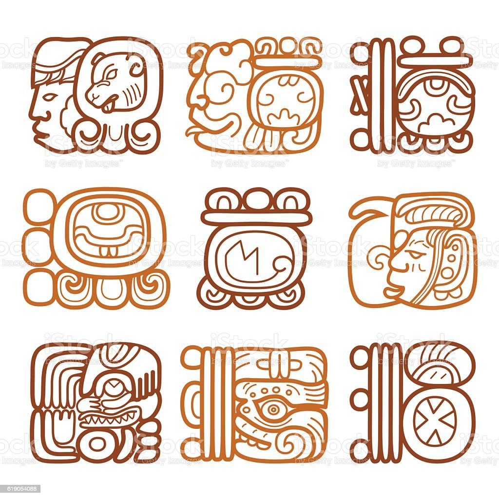 Mayan Glyphs And Symbols For Months